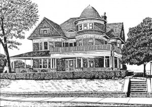 Berkeley House Drawing